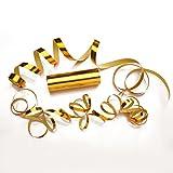 PartyMarty Luftschlangen Gold Metallic im 3er Sparpack - 3 Rollen mit je 18 metallisch glänzenden Luftschlangen - Karneval, Fasching, Hochzeit, Silvester & Co GmbH®