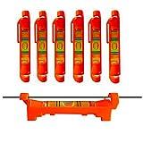 6x Schnurwasserwaage Schnurlinien Richtwaagen für Baugewerbe, Maschinenbau Vermessung (Rot)