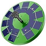 AISITIN Solar Springbrunnen mit 3.0W Grün Solar Panel, Solar Teichpumpe Wasserpumpe Solar Schwimmender Fontäne Pumpe mit 6 Fontänenstile für Garten, Vogel-Bad, Fisch-Behälter