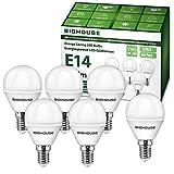 E14 LED Lampe P45, 5W 400 Lumen 3000 Kelvin Warmweiß E14 LED Glühbirne Ersatz für 40W Halogenlampen, 270° Abstrahlwinkel, Tropfenform, CRI80, 220-240V AC, 6 Stück