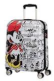 American Tourister Wavebreaker Disney - Spinner S Handgepäck, 55 cm, 36 L, Weiß (Minnie Comics White)
