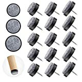 Filzgleiter Schrauben, 90x Filzgleiter - Filz Stuhle Möbelgleiter 20mm, 24mm, 28mm Durchmesser - Tischfüße Schutz Bodenschutz - Geeignet für Holzböden und Holzmöbel - Filzgleiter Stuhlgleiter