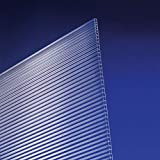 Polycarbonat Universal Stegplatten für Gewächshäuser klar 1200 x 800 x 4,5 mm
