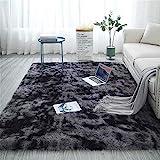 Aujelly Soft Area Rug Schlafzimmer Shaggy Teppich Zottige Teppiche Flauschige Bunte Batik-Teppiche Carpet Neu Dunkelgrau 180 x 270 cm