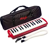 Stagg 32-Noten Melodica MELOSTA32RD mit Tasche, rot