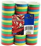 Idena 8274021 - Luftschlangen, 3 Rollen, Mehrfarbig, aus Papier, Dekoration, Geburtstag, Karneval, Mottoparty