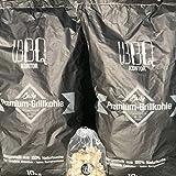 20kg (2x10kg) BBQKontor Premium Buchenholzkohle - 100% Naturbuche - Grillkohle Holzkohle Buche Buchengrillholzkohle in Steakhausqualität + 20 St. Anzünder