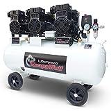 KnappWulf Flüster Kompressor NEUE GENERATION Luftdruckkompressor KW2200 mit 100L Kessel 3 Motoren a 1100W