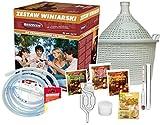 lilawelt24 STARTERSET GLASBALLON 15L WEINSET GÄRBALLON WEINBALLON Wein SELBERMACHEN WEINHERSTELLUNG