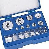 Kalibriergewicht Set für Digitalwaagen, 17-teilig Kalibriergewichte mit Kalibriergewicht Pinzette Edelstahl, insgesamt 211,1 g, 10 mg bis 100 g
