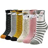 ZFSOCK Dicke Kinder Socken aus Baumwolle Bunte Thermo Winter Socken mit Frotteefutter Warme Lustige Socken für Mädchen Jungen Kleinkind Neuheit Tiermuster Socken für Größe 24-29, 5-7 Jahre alt