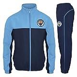 Manchester City FC - Herren Trainingsanzug - Jacke & Hose - Offizielles Merchandise - Geschenk für Fußballfans - Blau - XL