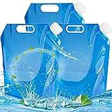 BESTZY 3Pcs Faltbarer Wasserkanister 10L Wasserbehälter Outdoor Faltschüssel Tragbar Faltbarer Trinkwasser Behälter für Wandern Camping Picknick Reise BBQ,[PE Plastik] [BPA Frei]