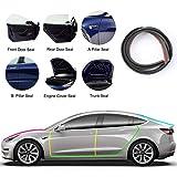 10 Pack Türdichtungssatz aus Gummi für Autos, Passend für Tesla Model 3 Autotüren, Autodichtungsstreifen Türdichtungssatz Selbstklebende Auto Gummi Dichtungsstreifen Schallschutz & Geräuschreduzierung