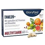 Multivitamin Immun+ - Mit allen wertvollen A-Z Vitamine und Mineralien - 2 Monate Immun-Kur Hochdosiert - 60 vegane Tabletten - Laborgeprüft ohne Zusätze hergestellt in Deutschland