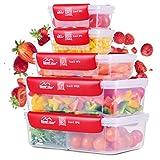 BayerVillage® Frischhaltedosen mit QR Code   Vorratsdosen Set   Luftdicht & temperaturbeständig   Kühlschrank Organizer für systematische Lebensmittel Aufbewahrung 5er Set