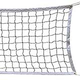 SIVENKE Volleyball Netz faltbar Standard 9.5m x 1m Volleyball Ersatznet Garten/Strand Sport Net für Federball Tennis Volleyball inkl. Tragetasche