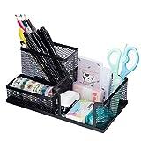Schreibtisch Organizer Multifunktionale Metall Stiftehalter 3 Fächer Tisch Büro Aufbewahrungsbox für Office, Schule und Haushalt Schwarz