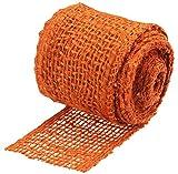 Connex Jute-Band 6 cm x 3 m - Orange - Für Garten, Haushalt & Hobby - Zum Binden, Dekorieren & Basteln - Ökologisch aus Naturfaser - 100% Jute / Dekoband / Jute-Wickelstreifen / FLOR80630