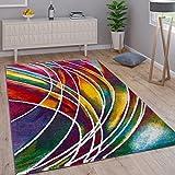 Paco Home Teppich Modern Designer Teppich Bunter Farbmix Gemustert Mehrfarbig, Grösse:120x170 cm
