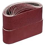 Schleifbänder,75 x 533 mm je 5 x Korn 40 60 80 120 180 für Bandschleifer Schleifpapier Schleifband-Set 25 Stück…
