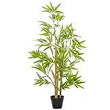 Outsunny Künstlicher Bambus Kunstpflanze Dekoration Kunstbaum Baumdekoration 120cm