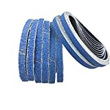 Zirkonkorund Schleifbänder 13 x 457 mm je 5 x Körnung 60/80/100/120/240/320 für Black & Decker Powerfeile Schleifpapier Schleifbänder Set 30 Stück