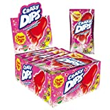 Chupa Chups Crazy Dips, 24er Thekendisplay, Erdbeer-Lollis mit Brausepulver und Knistereffekt