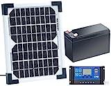 revolt Solarpanel 12V mit Akku: Solarpanel (5 W) mit Ladewandler und Blei-Akku (Mini Solarzellen mit Akku)