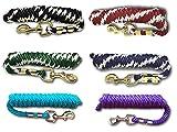 Führstrick für Pferd - Anbindestrick in verschiedenen stylischen Designs, Führleine, Anbindeseil Pony, Esel, Ziege (Blau)