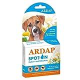ARDAP Spot On - Zecken & Flohschutz für Hunde von 10 bis 25kg - Natürlicher Wirkstoff - 3 Tuben je 2,5ml - Bis zu 12 Wochen nachhaltiger Langzeitschutz