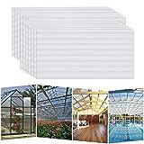 HENGMEI 14x Polycarbonat Hohlkammerstegplatten 4mm 10,25 m² Doppelstegplatte UV-beständigen Stegplatten für Gewächshaus, Garten Treibhaus - Transparent