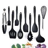 Adkwse Küchenset Silikon, Kochbesteck Set Advanced Hitzebeständige Küchengeräte Kochzubehör Antihaft-Küchenbackwerkzeuge,Schneebesen, Grillzangen etc