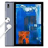 Blackview Tab9 Tablet 10,1 Zoll 4G LTE Dual SIM + 5G-WiFi 7,480mAh Akku 1920*1200 FHD+, Octa-Core Prozessor (T610), 13MP/5MP 64GB/4GB RAM Android 10 Tablets-PC mit Hülle/Kopfhörer - Face ID/GPS - Grau