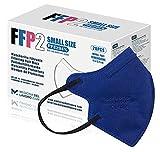 20 FFP2/KN95 Maske Blau CE Zertifiziert Kleine Größe Small, Medizinische Mask mit 4 Lagige Masken ohne Ventil, Staub- und Partikelschutzmaske, Atemschutzmaske mit Hoher BFE-Filtereffizienz≥95 20 Stück