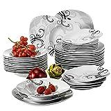 VEWEET Tafelservice 'Zoey' aus Porzellan 36 teilig   Tellerset für 12 Personen   Mit je 12 Dessertteller, Tiefteller und Flachteller …