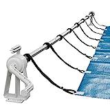 Arebos Aufrollsystem für Solar- und Poolplanen/Länge von 1,05-6,15 m/witterungsbeständiges Material/für die Feste Montage/auch für Aufstellpools geeignet