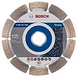 Bosch Professional Diamanttrennscheibe Standard für Stone (für Stein, 125 x 22,23 x 1,6 x 10 mm, Zubehör Winkelschleifer)
