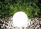 Trango 200 Garten Kugellampe IP44 Kugelleuchte 20cm Durchmesser *Garden* in Weiß mit je ca. 5m Zuleitungskabel & 1x E27 Fassung geeignet für LED-Leuchtmittel Gartenleuchte Außenleuchte Gartenstrahler