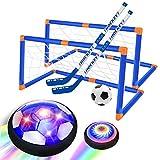 GPTOYS Air Power Fußball- Fußball Kinder mit LED Beleuchtung und Schaum Stoßstangen- Hover Ball für Indoor Outdoor Spielzeug für Kinder-DREI Arten von Bällen