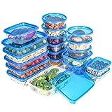 QCen Frischhaltedosen Aufbewahrungsbox Vorratsdosen Set, 20 containers, BPA-Frei Lunchbox, Geeignet für Mikrowelle,Gefrierschrank und Spülmaschine