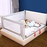 1 Seite Kinder Bettgitter Bettschutzgitter Kinderbettgitter Babybettgitter Rausfallschutz für kinder Baby ,passend für Kinderbetten, Elternbetten und Alle Matratzen Massivholzbetten