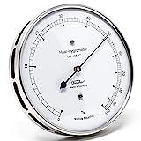 Fischer 111.01 - Haar-Hygrometer - 103mm Außen-Luftfeuchtigkeitsmesser aus Edelstahl Made in Germany