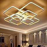 108W LED Deckenleuchte LED Deckenlampe 3200lm Dimmbar Mit Fernbedienung 3000K - 6000K Moderne Aluminium Deckenleuchten for Wohnzimmer Flur Arbeitszimmer Schlafzimmer Wohnzimmerlampe Designer-Lampe
