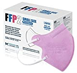 20 FFP2/KN95 Maske Rose CE Zertifiziert Kleine Größe Small, Medizinische Mask mit 4 Lagige Masken ohne Ventil, Staub- und Partikelschutzmaske, Atemschutzmaske mit Hoher BFE-Filtereffizienz≥95 20 Stück