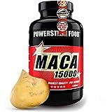 MACA 15000   Reines Bio Maca Wurzel Extrakt   HOCHDOSIERT   Vegan   + Vitamin C   2-Monatsvorrat   120 Kapseln   Deutsche Herstellung nach IFS