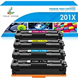 True Image Kompatibel Tonerkartusche als Ersatz für HP 201X 201A CF400X CF400A CF401X CF402X CF403X HP Color Laserjet Pro MFP M277dw M252dw M277n M252n M274n (Schwarz,Cyan,Gelb,Magenta, 4er-Pack)