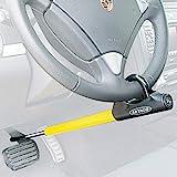 ARTAGO 871A/B Lenkradschloss Lenkradkralle Lenkradsperre Diebstahlsicherung Lenkrad Pedal Auto, Schwarz/Gelb