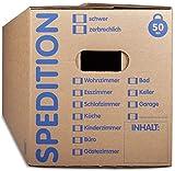KK Verpackungen® Umzugskartons mit 50KG Tragkraft | 30 Stück, 2-wellige Mehrweg-Umzugskisten in extrastabiler Speditionsqualität