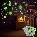 FORMIZON Leuchtaufkleber Wandaufkleber, im Dunkeln Wandtattoos Leuchtende, Wandsticker für Kinderzimmer, Leuchtsticker Fluoreszierend Wandaufkleber für Kinderzimmer Babyzimmer Dekorationen (Astronaut)